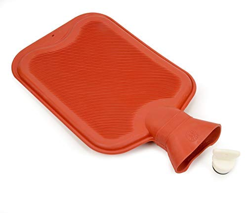 Beemo Rubber Hot Water Bottle - Classic, Large ½ Gallon for Hot or Cold Therapy Reduces Pain