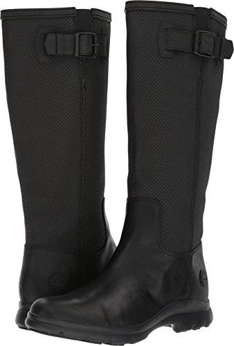 Timberland Women's Turain Tall WP Rain Boot, Black, 8 C US