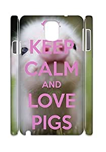 Cell phones cases for samsung note 3 3D,Hard Case for samsung note 3 3D(Baby Pig).
