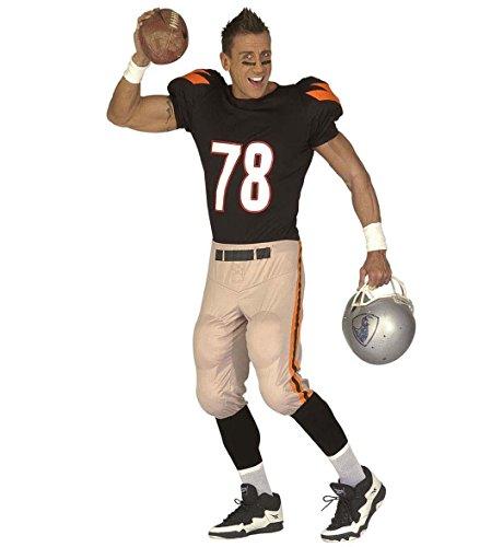 Widmann 3235N - Erwachsenenkostüm American Football Player - gepolstertes Oberteil und Hose, Größe XL, mehrfarbig