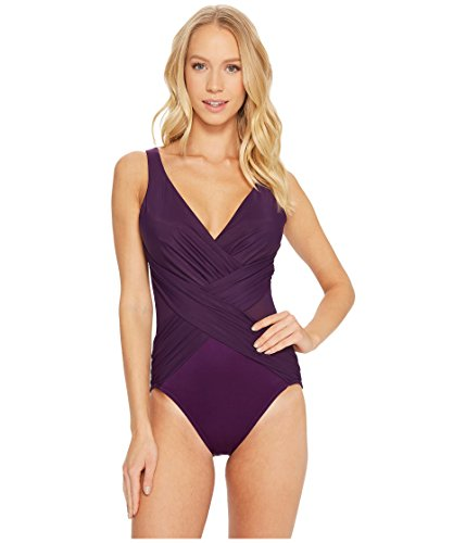 Miraclesuit Illusionists Crossover One-Piece Plum 14