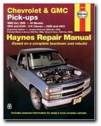 Haynes Chevrolet & GMC Pick-ups, 2WD & 4WD (88-00) Manual (24065) 4wd Manual