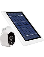 Wasserstein Solar Panel with Internal Battery Compatible with Arlo HD ONLY - Power Your Arlo Surveillance Camera continuously (White) (Separate External Battery NOT Included)