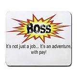 Best T-ShirtFrenzy Boss Mouse Pads - BOSS It's not just a jobIt's an adventure Review