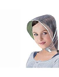MENYUNYIJI Creative Plastic Rain Hat Cap Coat Raincoat Women Men Kids Gifts Universal Use Hiking Fishing Rains Waterproof Windproof Hats
