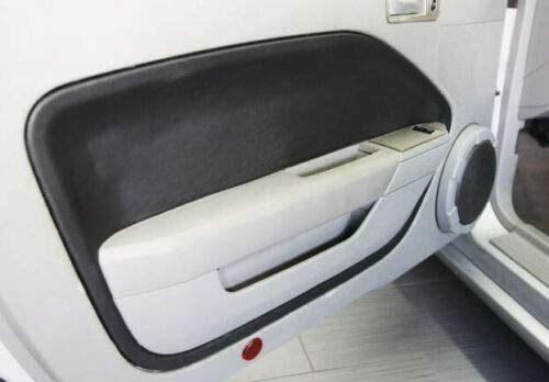 Fits 2005-2009 Ford Mustang Synthetic Black Leather Padded Door Panel Insert Cards Skin Only