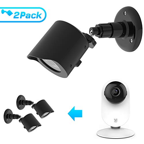 BASSTOP Wall Mount for YI Home Camera, 360 Degree Swivel Bracket Holder Case Cover for YI 1080p/720p Home Camera Outdoor&Indoor Weatherproof High Grade Plastic Housing