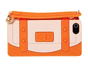 Cute Protective Soft Silicone Handbag Case Skin Cover for iPhone 5 Orange