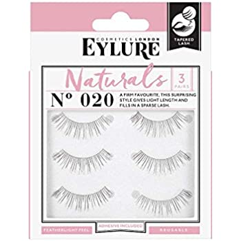 c9424a0bb4a (Multi Pack- 3 Pairs) Eylure Naturalites #020 False Eyelashes, Black