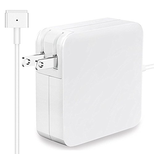 (Fit for MacBook Air Charger New Version, Replacement 45W Magsafe 2 Magnetic T-Tip Power Adapter Charger for Apple MacBook Air 11 inch 13 inch)