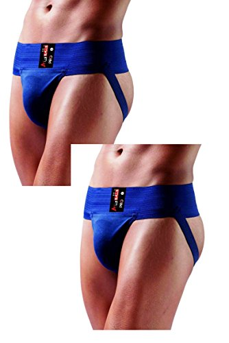 AllsBalls Jockstrap Gym Cotton Supporter with Cup Pocket Gym, Fitness & Outdoor Inner Wear Soft Underpants (2 Pack Navy Blue, X-Large) by AllsBalls