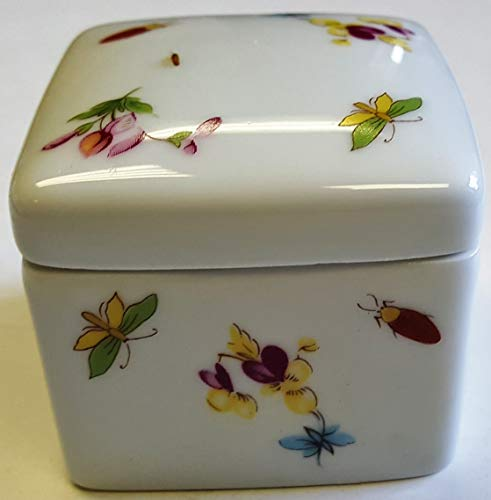 - Limoges New Authentic Signed Porcelain Hand Painted 2-Piece Box (Made in France)