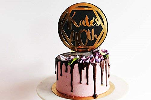 Cool Personalised Gold Mirror Black Card Cake Topper Milestone Personalised Birthday Cards Epsylily Jamesorg