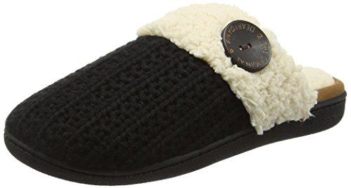 Dearfoams Knit Closed Toe Scuff With Memory Foam - Zapatillas bajas para  mujer Negro (Black 00001)