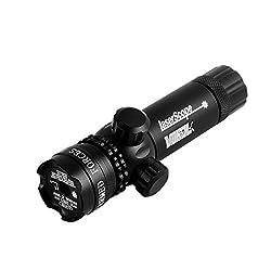 Higoo Tactical Green Laser Dot Sight, Shockproof 532nm Rifle Gun Laser Scope w/ Rail & Barrel Mount Cap Pressure Switch & Battery