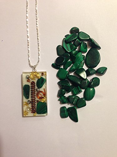 Orgone Energy Necklace - Malachite, Quartz Crystal, Copper, Swarovski Crystal Pearl and Gold24k - Money Magnet