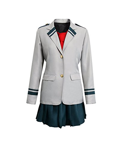 (COSFLY Mens Womens My Hero Academia Boku No Hero Academia Cosplay Costume Midoriya Izuku Ochaco Uraraka School Uniform (X-Large, Women Type))