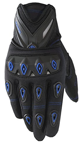 CRAZY AL'S SCOYCO MC10 Gloves Professional Motorcycle Motocross Racing Full Finger Gloves Sportswear Cycling Outdoor Sports Gloves Red Black Blue M/L/XL/XXL (M, Blue)