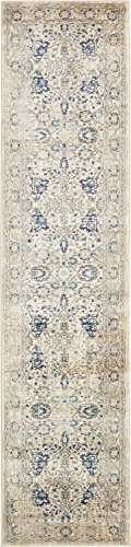 A2Z Rug Beige 3' x 13' FT St. Martin Collection Area rug - Vintage Inspired Overdyed Perfect for Living Dinning Room and Bedroom Rugs, Interior Modern Floor Carpet Design
