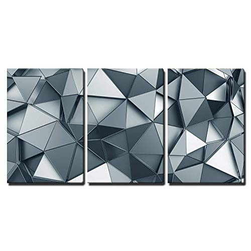 Abstract 3D Metal Background Wall Decor x3 Panels