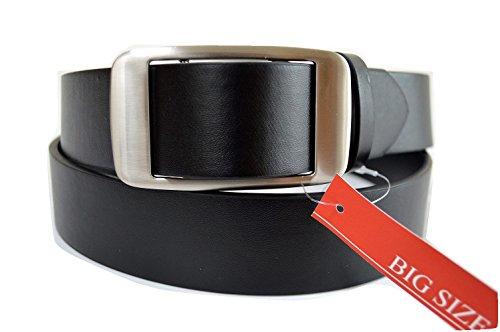 【品 名】ピン穴なし 無調整メンズベルト スライドバックル式 大きいサイズ フリーサイズ ウエスト125cmまで対応 V3