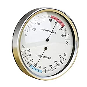 Baosity 1pcs Wall Mounted Household Thermometer Hygrometer High Accuracy Pressure Gauge Air Weather Instrument Barometers