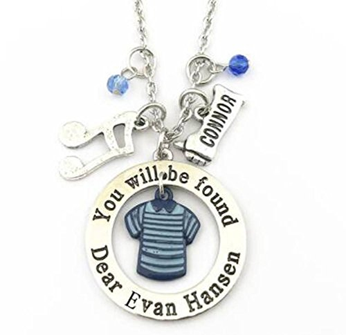 Broadway Evan Jewelry Ideas - You Will Be Found Charm Musical Movie Attire Necklace -
