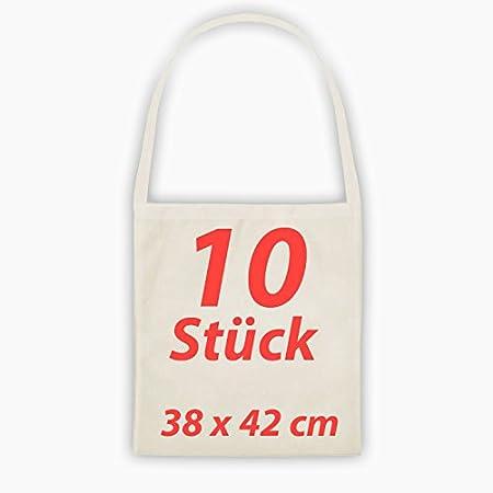 Bolsa de tela natural un largo Asa funda de algodón yute Bolsa 10 unidades): Amazon.es: Hogar