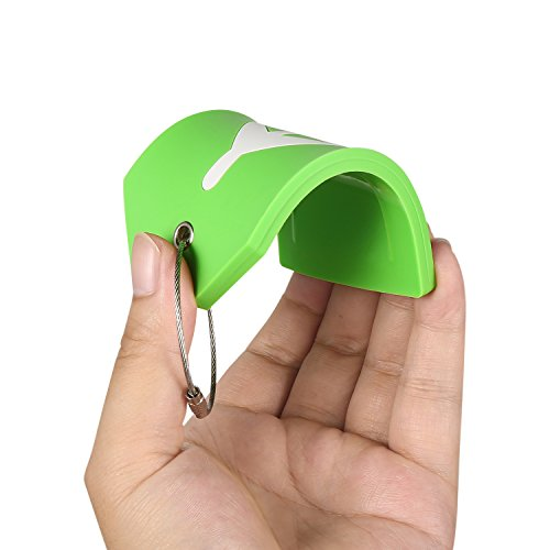 PVC Rubber Luggage Tags w/Full Privacy Flap,Great for Luggage Cases Identification by Goldzone (Green-4 Pack) by Goldzone (Image #5)