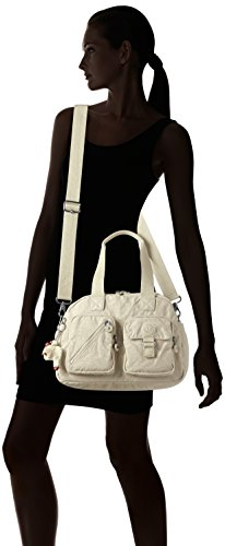 Femme Tile Sacs Portés Defea Kipling White Blanc Main wTIYHvxnAq