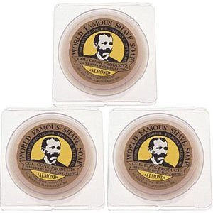 Col. Conk World's Famous Shaving Soap, Almond * 3 - Pack * Each Net Weight 2.25 Oz by Colonel Conk