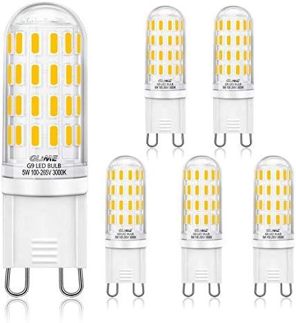 GLIME G9 LED Warmweiß, 5W 400 Lumen LED Leuchtmittel, 52x