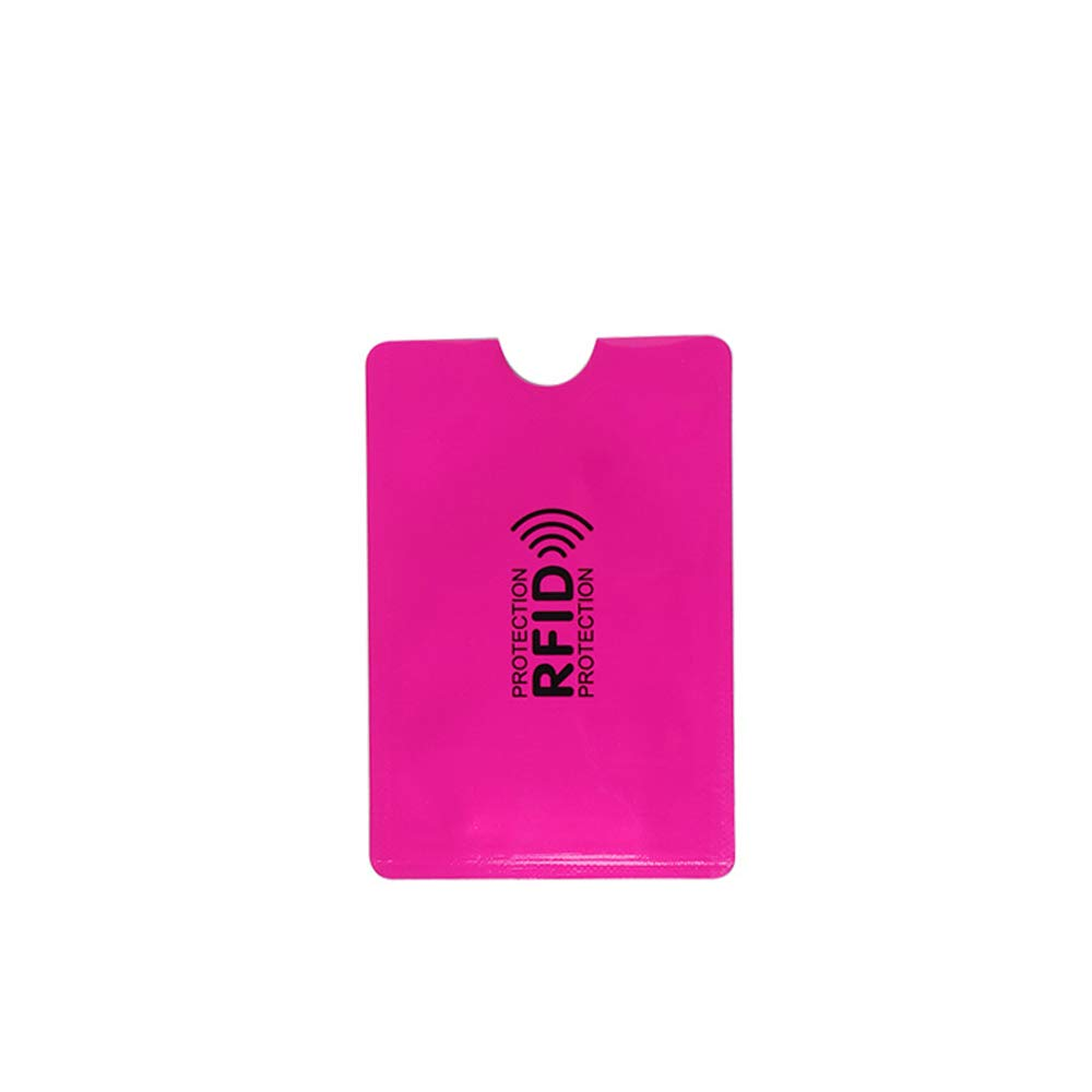 Blue RFID Blocking Card Holder Reader Bank Anti-Theft Aluminium Sleeve Wallet Protect Case Cover-10Pcs