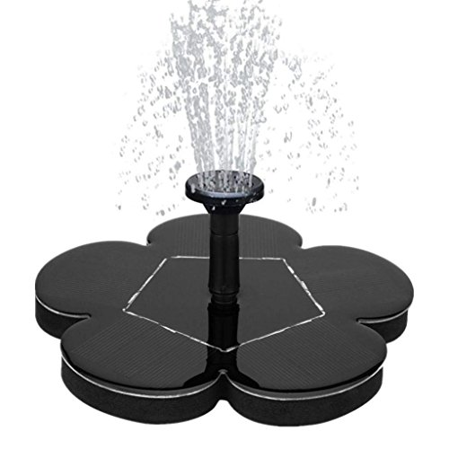 Solar Water Fountain for Bird Bath, Solar Fountain Water Pumps Freestanding Submersible for Small Pond,Fish Tank, Patio, Garden Decoration 1.4 W Solar Panel Water Pump Kit, Solar Pond Pump - Tank Solar