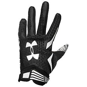Under Armour Men's Swarm Football Gloves (Black/White, 2XL)