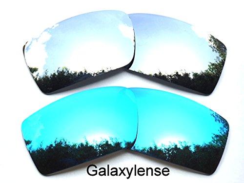 Galaxylense Replacement Lenses for Oakley Gascan Blue&Titanium Color Polarized 2 - Oakley Blue Lenses Gascan