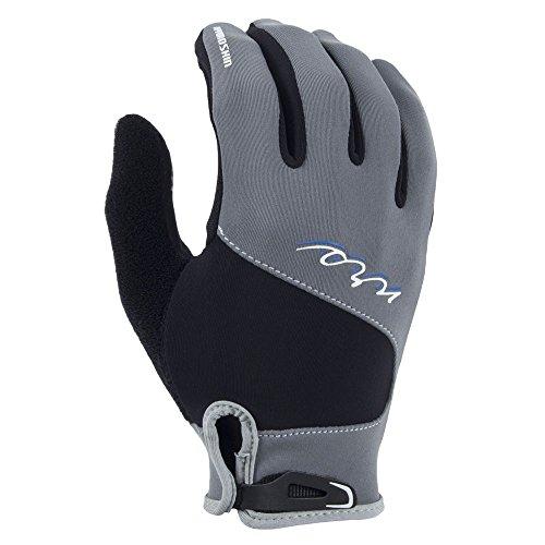 NRS HydroSkin Gloves - Women's Grey / Black Medium