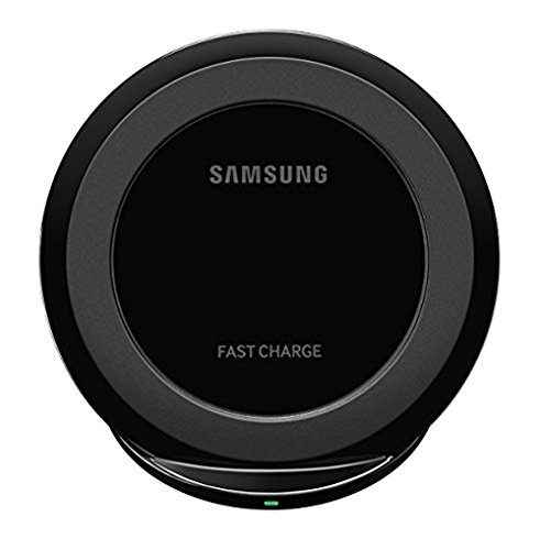 Samsung Qi Certified Fast Charge Wireless Charger Stand w/Wall Charger-Supports Qi compatible phones including the Samsung GS 8,8,Note8,Apple iPhone 8 and iPhone X (US Vers.)-Black (2 Pack) by Samsung (Image #1)