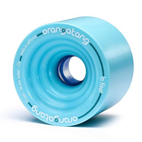 Orangatang in Heat 75 mm 77a Downhill Longboard Skateboard Cruising Wheels (Blue, Set of 4)