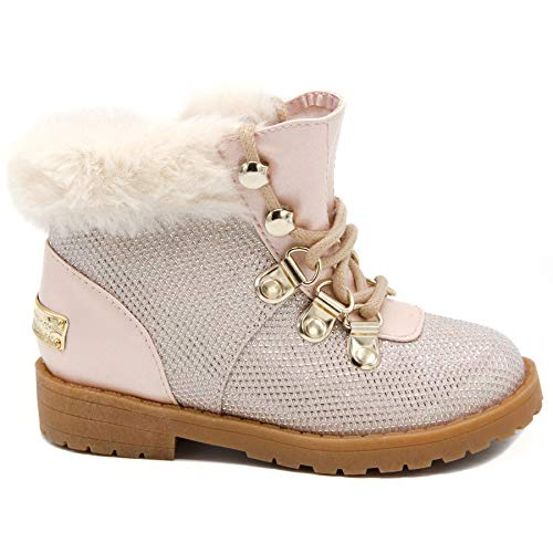 017ddf283827 Image of Juicy Couture Kids JC Lil Huntington Girls Pink   White Lace-Up  Hiker