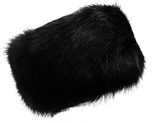 - Lovful Womens Faux Fur Stretch Earwarmer Earmuff Headband Hat,Black,One Size