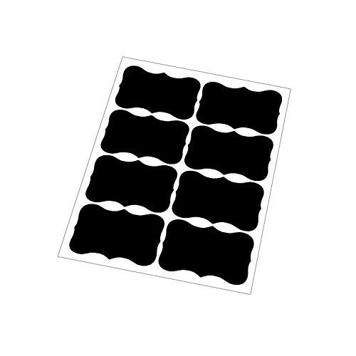 DogHa Blackboard Stickers Eco-Friendly PVC Blackboard Chalk Board Sticker Craft Label for Kitchen Jar,Wine Glasses 8PCS 10x15cm Black - Pvc Labels