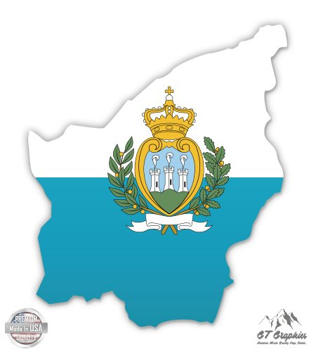 (San Marino Map Flag Country Shape - 12