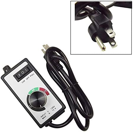 41RFMBDFNKL. AC waltyotur AC 120V Replacement for Router Fan Variable Speed Controller Electric Motor Rheostat    Replacement for Router Fan Variable Speed Controller Electric Motor Rheostat AC 120VThree settings include off, on (full) and variableSimple use the dial to increase or decrease fan motor speed120 volt/15 amps110v /60hz power cord