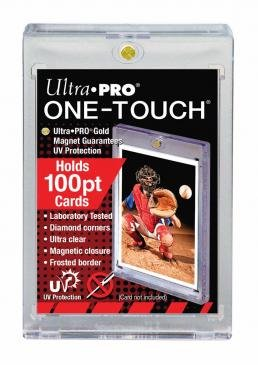 100 pt One Touch Magnetic Holders for Jersey Trading Cards 1- Box 25 Holders (Ultra Game Jersey)