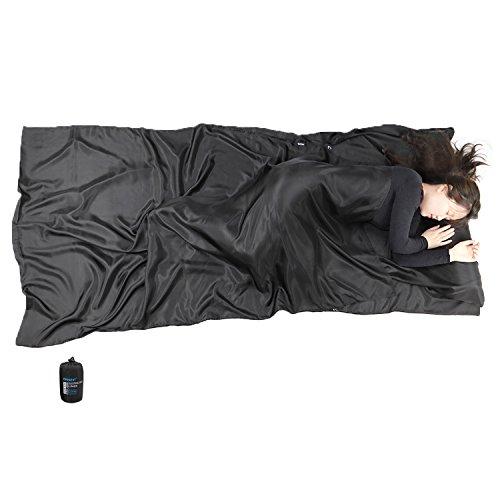 Browint Silk Sleeping Bag Liner, Silk Sleep Sack, Extra Wide, Lightweight Travel Sheet for Hotels, More Colors for Option, Reinforced Gussets ()