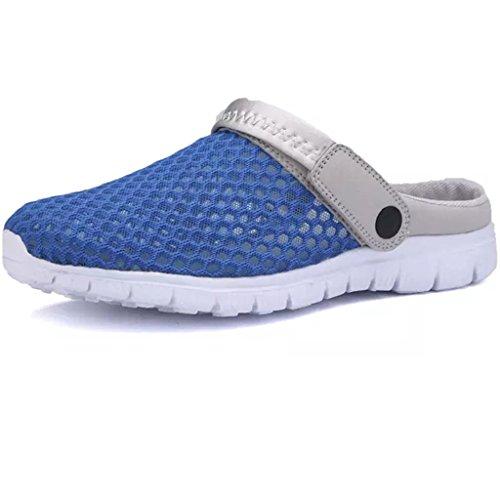 Eagsouni Clogs,Men Women Clogs Breathable Mesh Water Slippers Blue