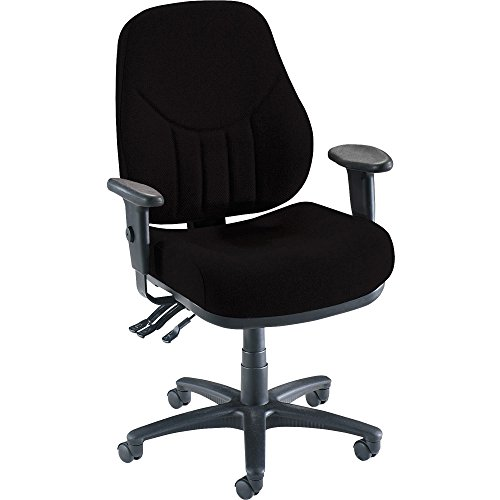 Lorell High-Back Multi-Task Chair, 26-7 8 by 26 by 39-Inch to 42-1 2-Inch, Black