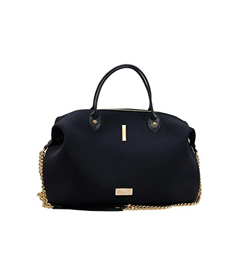 Borsa Bauletto Medium In Neoprene Con Iniziali - nero, I