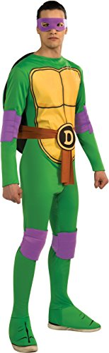 Ninja Turtles Adults Costumes (Nickelodeon TMNT Adult Donatello and Accessories, Green, Standard Costume)